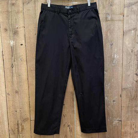 90's~ Polo Ralph Cotton Slacks  BLACK  W 34