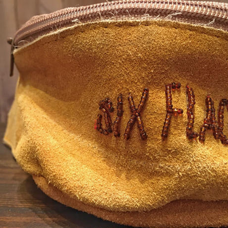 80's~ SIX FLAGS Suede Waist Bag