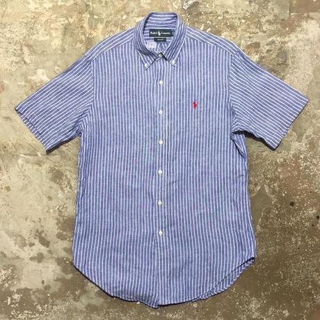 Polo Ralph Lauren Linen B.D Shirt BLUE STRIPE
