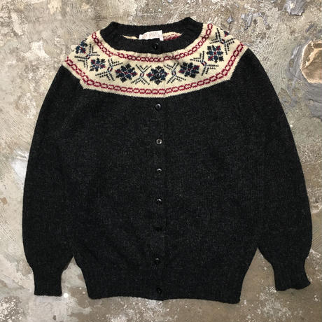 80's GLEN NEVIS Wool Cardigan