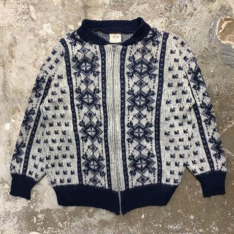 80's VAKA Zipper Wool Cardigan