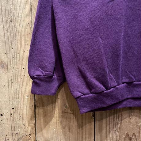 90's FRUIT OF THE LOOM Plain Sweat Shirt  PURPLE