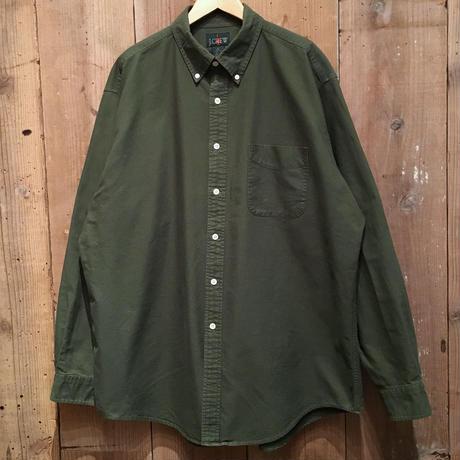 90's J.CREW Cotton B.D Shirt GREEN
