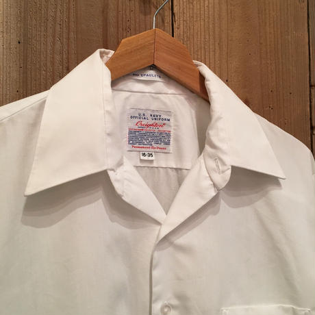 Creighton U.S.NAVY Officers Shirts WHITE