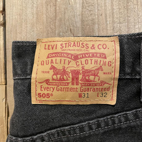 90's Levi's 505 Black Denim Pants  W 31