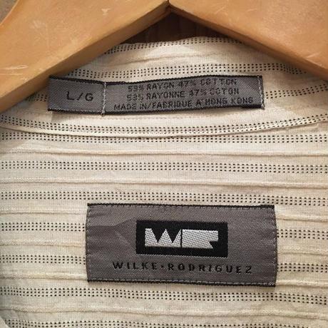 90's~ WILKE RODRIGUEZ Rayon×Cotton  Shirt