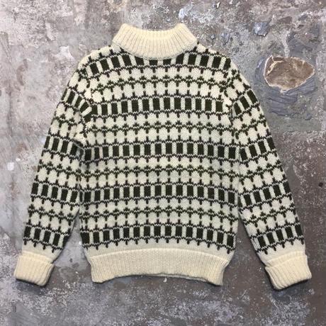 70's RUNOX Mock Neck Wool Sweater
