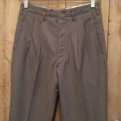50's~ Unknown Wool Two Tuck Slacks