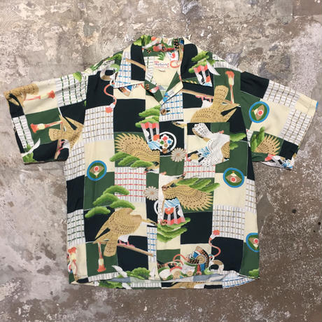 50's The Kapaia Stitchery Silk Aloha Shirt