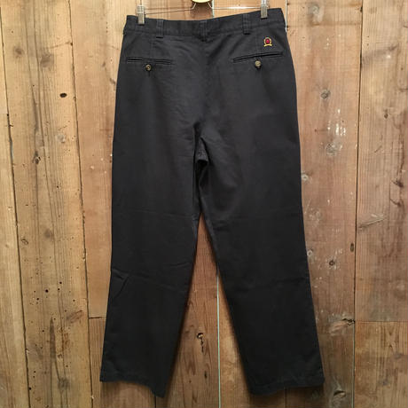 90's TOMMY HILFIGER  Two Tuck Cotton Chino Pants NAVY W:34