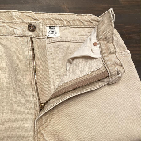 90's Levi's 550 Color Denim pants L.BEIGE  W 33