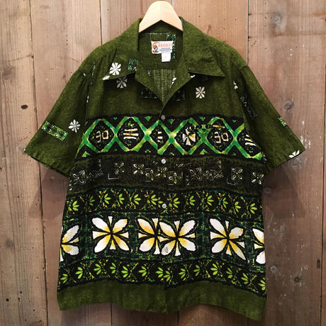 70's KEOKI'S Cotton Aloha Shirt