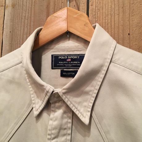 90's POLO SPORT Ralph Lauren Cotton Western Shirt