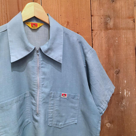 70's BEN DAVIS Half Zip Work Shirt