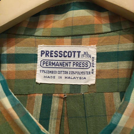 80's PRESSCOTT Cotton/Poly B.D Shirt
