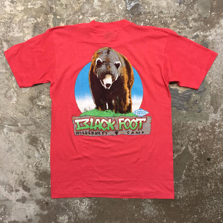 90's FOREST TRAIL Bear Pocket Tee