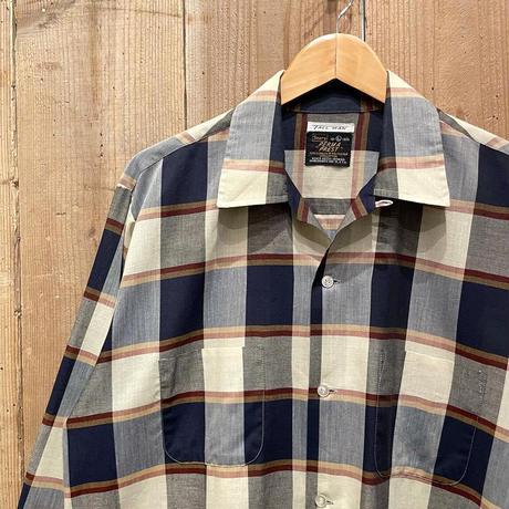 ~80's Sears Cotton/Poly Open Collar Shirt