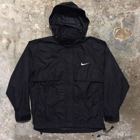 90's NIKE Packable Nylon Jacket BLACK