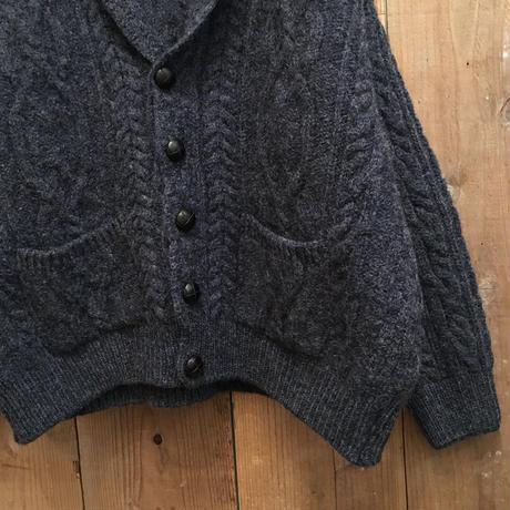 aran crafts Aran Knit shawl collar Cardigan