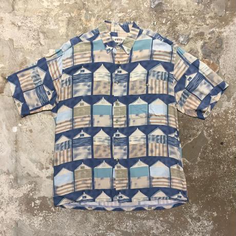 CAMPIA MODA Rayon Aloha Shirt BLUE WINDOW