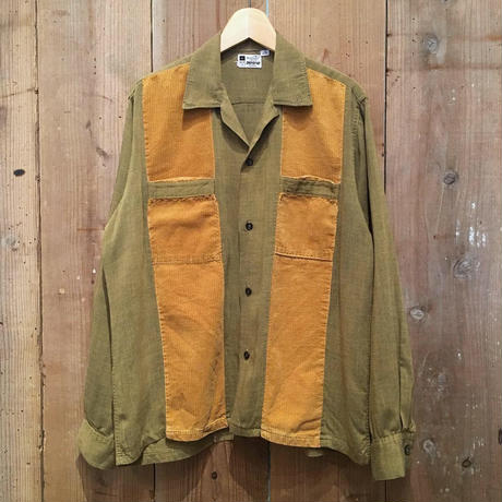 50's~ Domino Rayon Corduroy Shirt