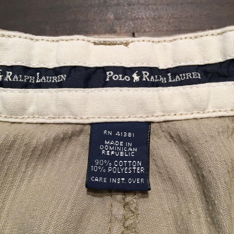 90's Polo Ralph Lauren Two Tuck Corduroy Pants BEIGE  W 34