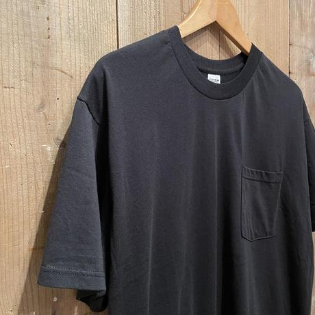 90's~ FRUIT OF THE LOOM Plain Pocket Tee BLACK