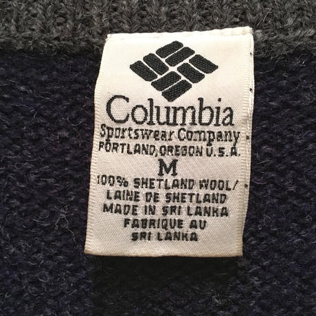 90's~ Columbia V-Neck Wool Sweater