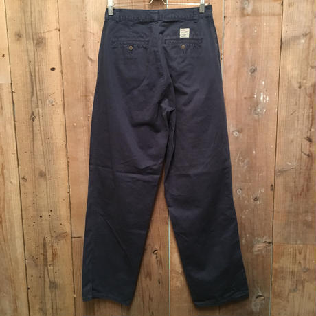 80's~ Polo Ralph Lauren Two Tuck Chino Pants NAVY  W : 32