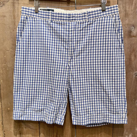 Polo Ralph Lauren Plaid Cotton Short L.BLUE W35