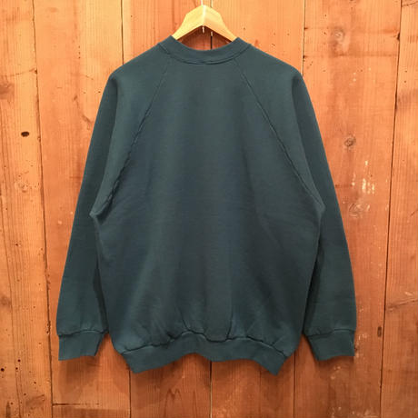 90's FRUIT OF THE LOOM Sweatshirt  BLUE GREEN