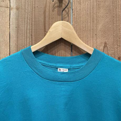 90's FRUIT OF THE LOOM Plain Tee L.BLUE