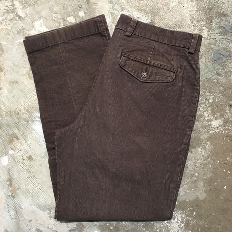 L.L.Bean Corduroy Pants BROWN W : 33