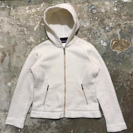 Patagonia Synchilla Fleece Hooded Jacket OFF WHITE