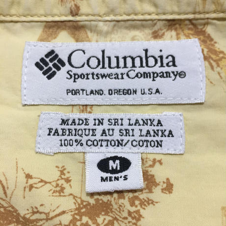 Columbia Fish Patterned B.D Shirt YELLOW