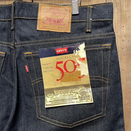 80's Levi's 505 Denim Pants  W 38 (Dead Stock)