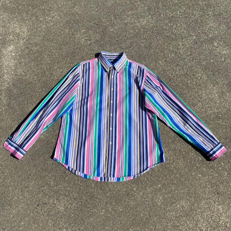 random stripe shirt/ランダムストライプシャツ