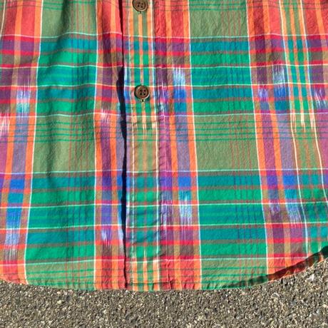 90s ralph lauren madras check shirt/90年代ラルフローレンマドラスチェックジャケット