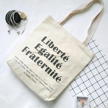 便利なマチ付★オシャレなタイポグラフィデザインバッグ♪ナチュラルトート帆布バッグ