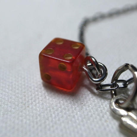 Vintage Bakelite Dice and Bird Necklace