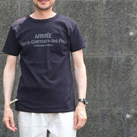 SHORT SLEEVE TEE SHIRT with ARMEE Saint-Germain  PRINT BLACK  COLOUR