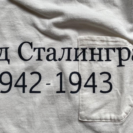 SHORT SLEEVE TEE SHIRT with Сталинград PRINT SNOW WHITE COLOUR