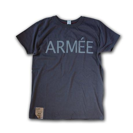 SHORT SLEEVE TEE SHIRT with ARMEE PRINT SHARK COLOUR