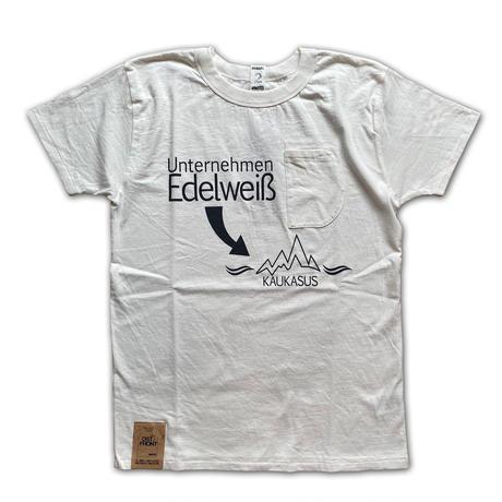 SHORT SLEEVE TEE SHIRT with Edelweiß PRINT SNOW WHITE COLOUR