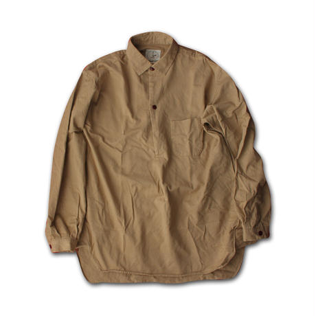 "LONG SLEEVE PULLOVER SHIRT ""STOCKHOLM""  TAN KHAKI"
