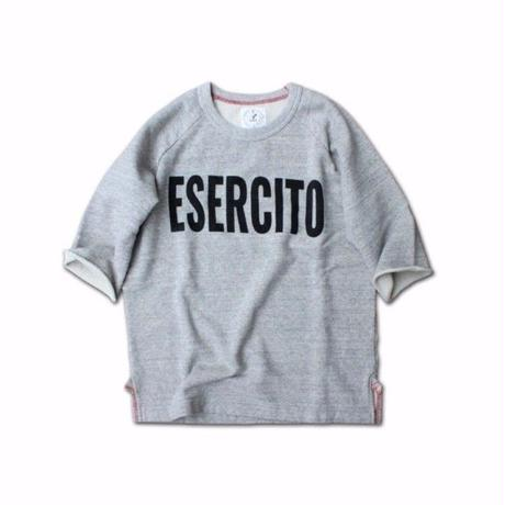 HALF SLEEVE PRINT SWEAT SHIRT ESERCITO GRAY