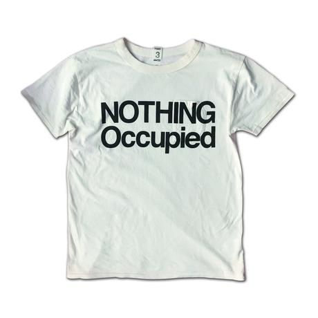 SHORT SLEEVE TEE SHIRT with NOTHING OCCUPIED  PRINT OFF WHITE  COLOUR