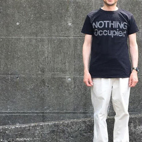 SHORT SLEEVE TEE SHIRT with NOTHING OCCUPIED  PRINT BLACK  COLOUR
