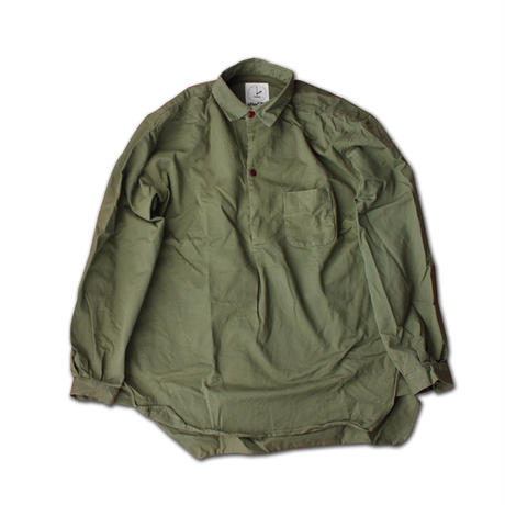 "LONG SLEEVE PULLOVER SHIRT ""STOCKHOLM""  ARMY GREEN"