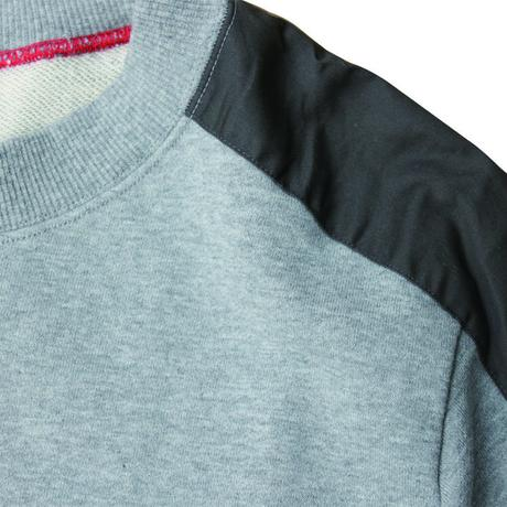 "HALF SLEEVE SHOULDER-PATCHED SWEAT SHIRT ""PARIS"""